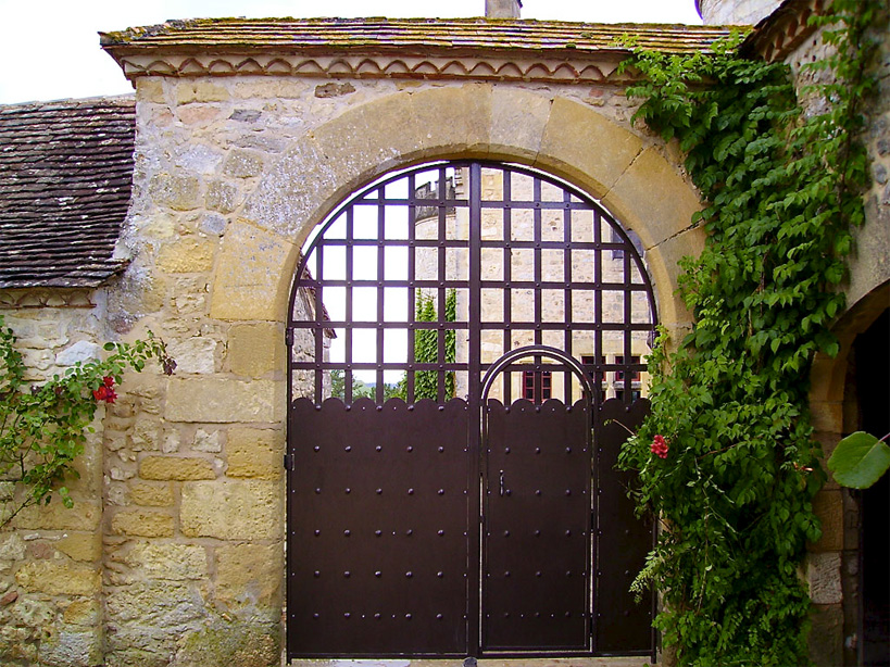 The gates are dressed with iron plates