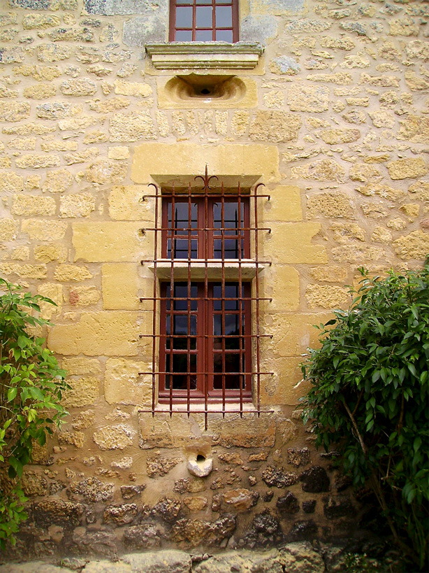 Iron window grill for a French manor house