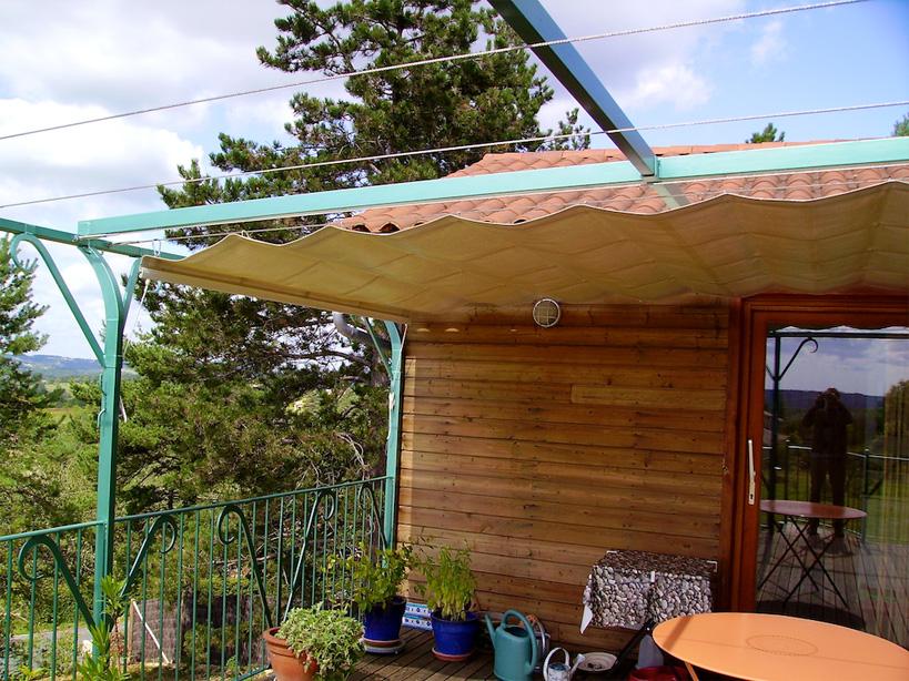 Sunroof on an outdoor terrace