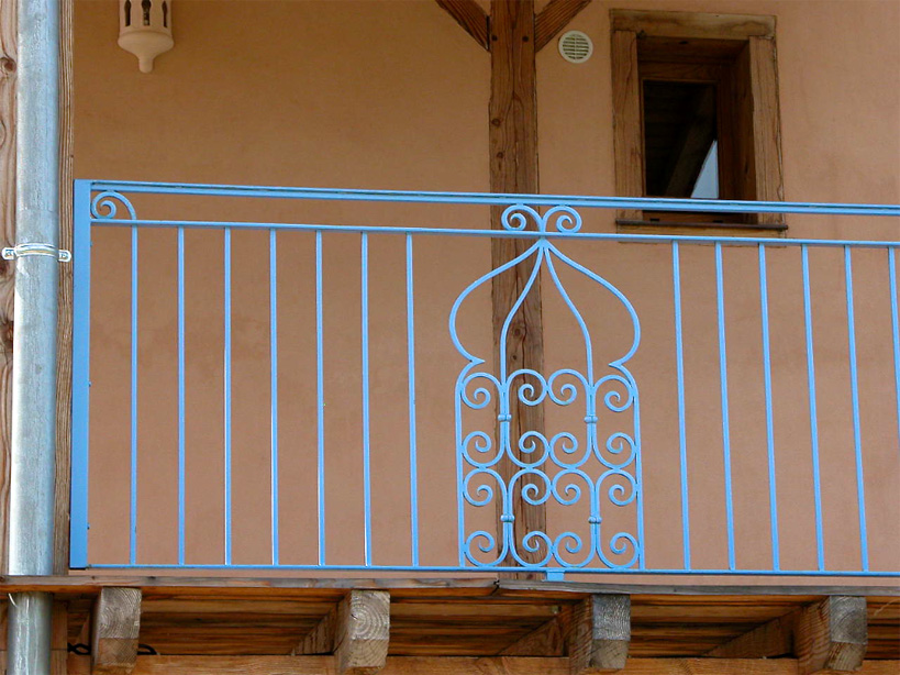 This balustrade for some Turkish baths has been in an appropriate style.