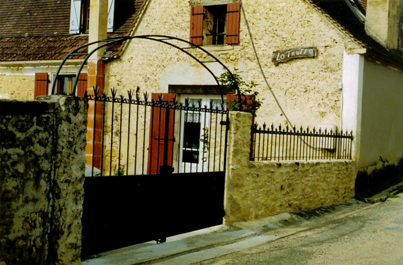 Traditional type work in a French country village