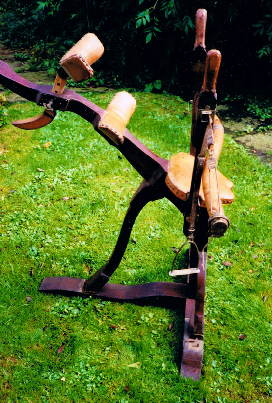 Wood leather brass - Dreaming chair