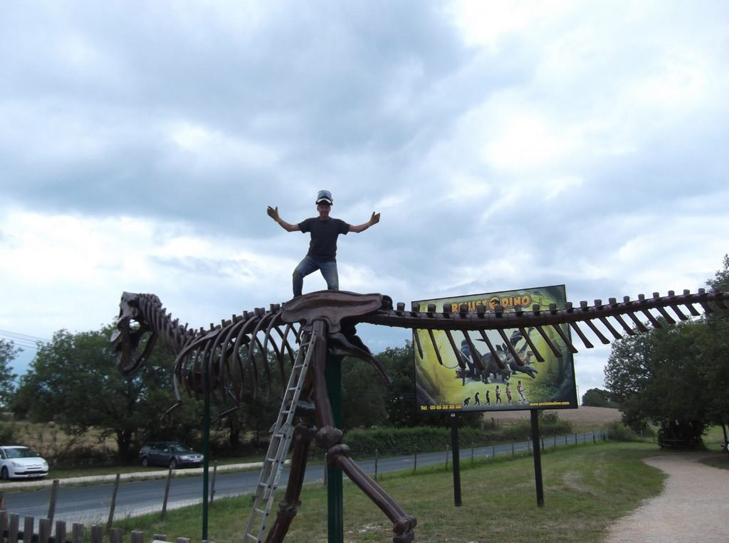 this 2nd skeleton of t-rex was ordered for an amusement park