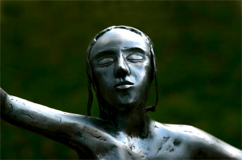 sculpture inspired by my 10 years old daughter in mild steel