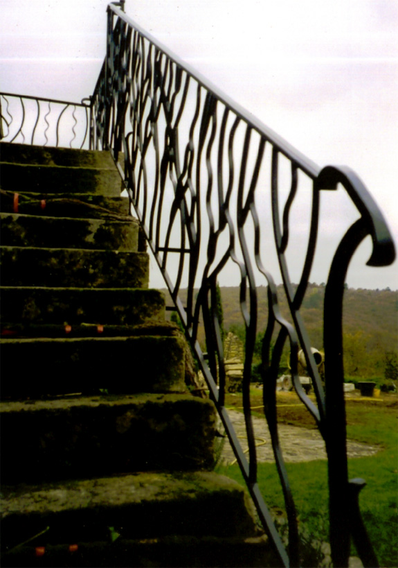 Inspiration was taken from the vegetation creeping up the walls for these railings
