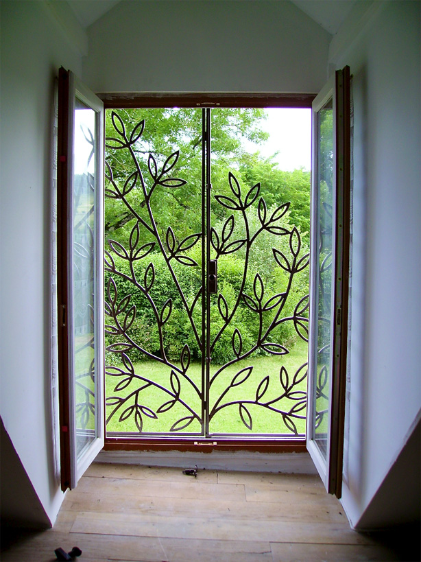 This pair of opening window grills was inspired by the view from the window